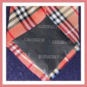Burberry Accessories - BURBERRY Nova Check in Orange Beige Classic Tie